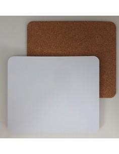 Muismat, glans, met kurk, 19,5 x 25 x 3 mm,, sublimatie