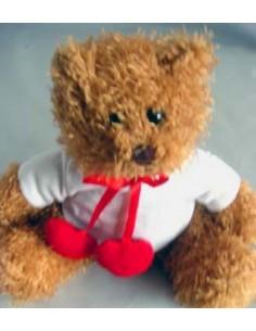 Knuffel, pluche,Teddy beer, 20 cm, met shirt, sublimatie Beer