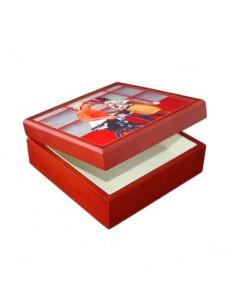keramiek, sieraden box, met tegel