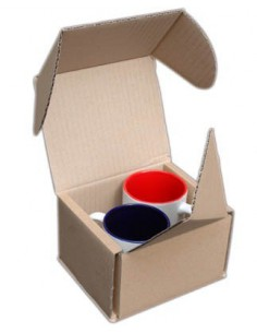 Box for shipment of 1 or 2 Mugs,