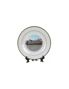 Plate with standard, 20,5 cm