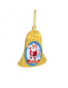 Christmas clock Ornament, metal with Merry Christmas