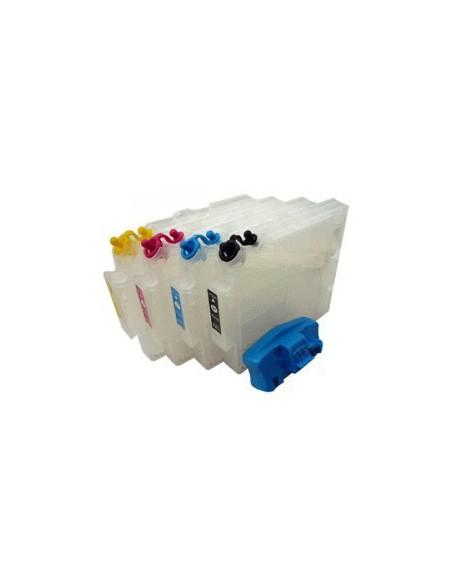 Inkt, refil cartridges, SG400, SG800, met resetter, Virtuoso, Sawgrass, zonder inkt