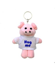 Key chain, teddy with shirt