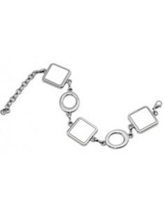 Armband, met 3 bedels en alum. inlegplaatjes, sublimatie